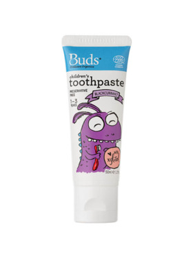 Buds Organics Blackcurrant Children's Toothpaste with Xylitol (50ml)