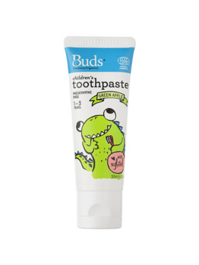 Buds Organics Green Apple Children's Toothpaste with Xylitol (50ml)