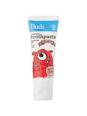Buds Organics Strawberry Children's Toothpaste with Xylitol (50ml)