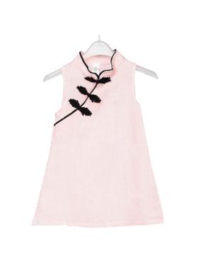 INSPI Kids Girls Chinese Dress Prints Sleeveless Dress
