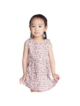 INSPI Kids Girls Dress Dots Pattern Prints Sleeveless Dress