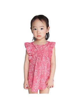 INSPI Kids Girls Dress Pattern Prints Sleeveless Dress