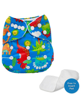Little Steps Dinosaurs Reusable Cloth Diaper