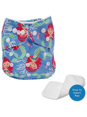 Little Steps Mermaids Reusable Cloth Diaper