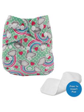 Little Steps Rainbows Reusable Cloth Diaper
