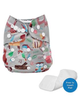 Little Steps Woodland Creatures Reusable Cloth Diaper