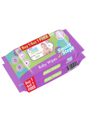 Smart Steps Baby Wipes 50s (Buy 1 Take 1 Pack)