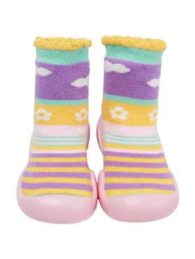 Little Steps Walking Shoes in Pastel Clouds