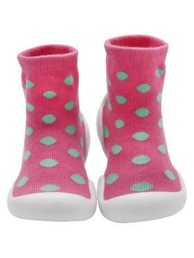 Little Steps Walking Shoes in Polka Dots