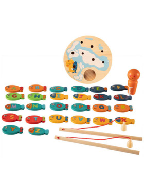 Hungry Hippo PH Wooden Fishing Game