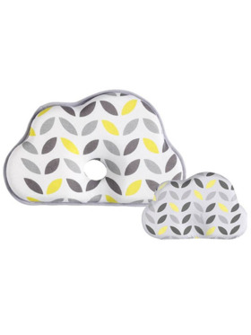 Olive and Cloud Lemon Baby Head Shaping Pillow (With Extra Pillow Case)