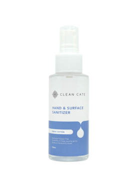 Clean Cate Hand and Surface Sanitizer Fresh Cotton (100ml)