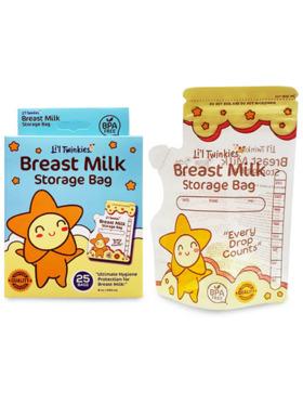 Li'l Twinkies New Clear Breast Milk Storage Bags (25s)