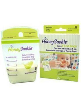 Honeysuckle Small Breastmilk Storage/Baby Food Bags 4oz (25pcs)