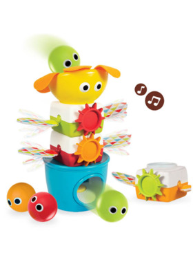 Yookidoo Tumble Ball Stacker Babies and Toddlers Musical Stacking and Tumbling Toy