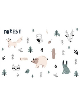 The Happy Fox Animal and Forest Wall Decal