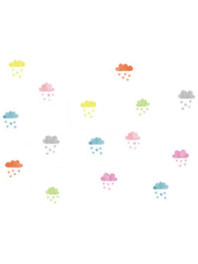 The Happy Fox Clouds Wall Decal