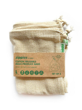 Zippies Cotton Mesh Produce Bags - Large (5s)