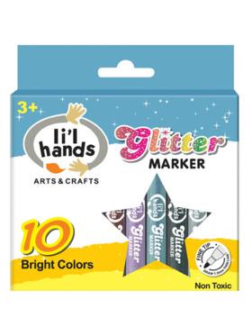 Li'l Hands Glitter Markers (Set of 10)