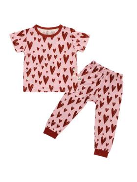 Bamberry Baby Hearts Bamboo PJ Short Sleeve