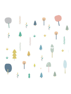 The Happy Fox Trees Wall Decal