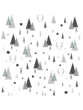 The Happy Fox Triangle Trees Wall Decal