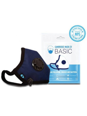 Cambridge Mask Co. Basic N95 Washable Reusable With Air Valve Face Mask