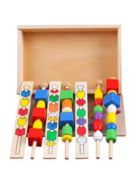 Hungry Hippo PH Wooden Montessori Beads & Stick Set