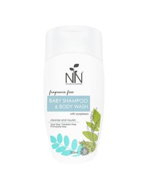 Nature to Nurture Fragrance Free Baby Shampoo & Body Wash (200ml)