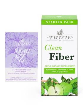 TRIZIE Nighttime Bundle (10 Pills) Sleeping & Calming Pills with Clean Fiber 3 Day Pack