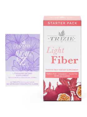 TRIZIE Nighttime Bundle (10 Pills) Sleeping & Calming Pills with Light Fiber 3 Day Pack