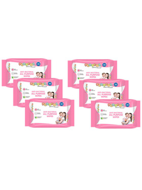 Playful Anti-Bacterial All Purpose Wipes 90s (Pack of 6)