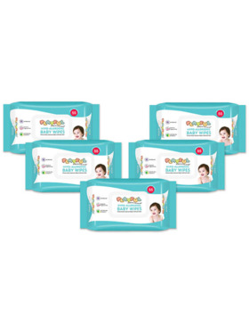 Playful Hypo-Allergenic Baby Wipes 55s (Pack of 5)