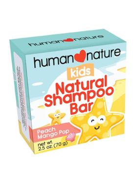 Human Nature Kids Shampoo Bar - Peach Mango Pop (70g)