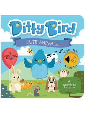 Ditty Bird Musical Book - Cute Animals Touch, Feel & Listen