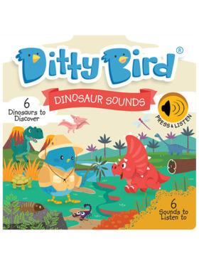Ditty Bird Musical Book - Dinosaur Sounds