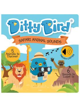 Ditty Bird Musical Book - Safari Animal Sounds