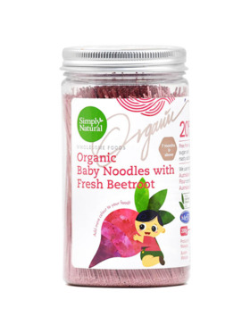 Simply Natural Organic Baby Noodles - Beetroot (200g)