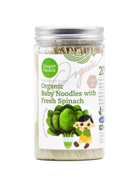 Simply Natural Organic Baby Noodles - Spinach (200g)