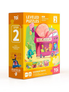 TOI Leveled Puzzle Step 2 Dino Traffic