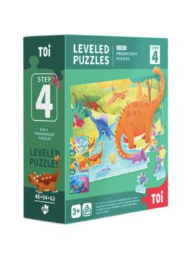 TOI Leveled Puzzle Step 4 Dinosaur