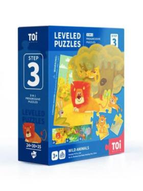 TOI Leveled Puzzle Step 3 Wild Animals