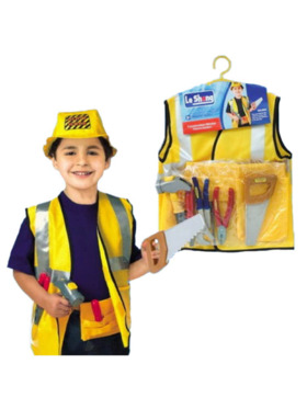 Le Sheng Construction Worker Pretend Play Costume