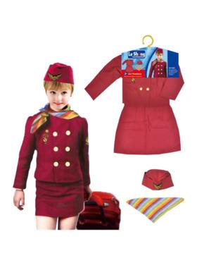 Le Sheng Flight Attendant Air Hostess Pretend Play Costume