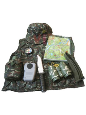 Le Sheng Military Forces Pretend Play Costume w/ Compass