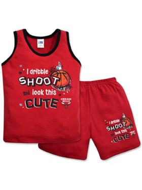 NBA Brand NBA Baby Collection Sando and Shorts Set (Hoop It Up - Bulls)