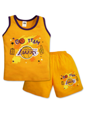 NBA Brand NBA Baby Collection Sando and Shorts Set (Hoop It Up - Lakers)