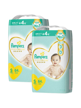 Pampers Premium Care Taped Small 2-Pack (64 pcs)-  Subscription
