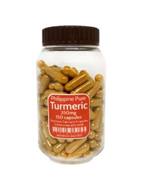 Philippine Pure Turmeric Caps 350mg (150 Capsules)