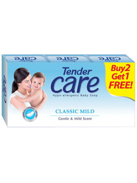 Tender Care Classic Mild Baby Soap 80g (Pack of 3)